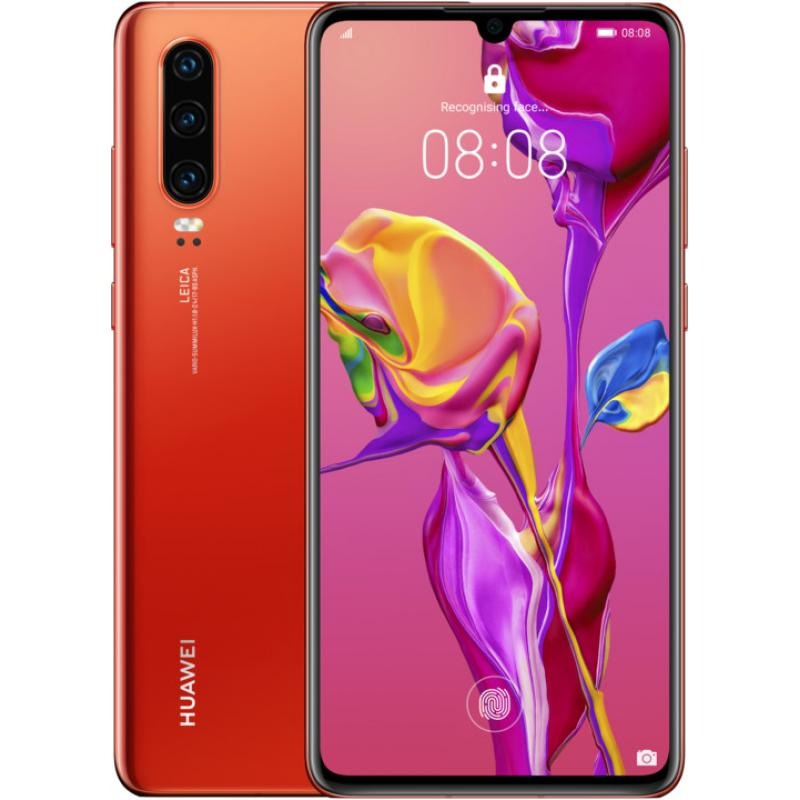 Huawei P30 (128GB, Dual Sim, Amber Sunrise, Special Import)-Smartphones (New)-Connected Devices