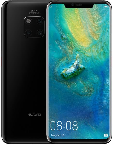 Huawei Mate 20 Pro (128GB, Black, Dual Sim, Special Import)-Smartphones (New)-Connected Devices