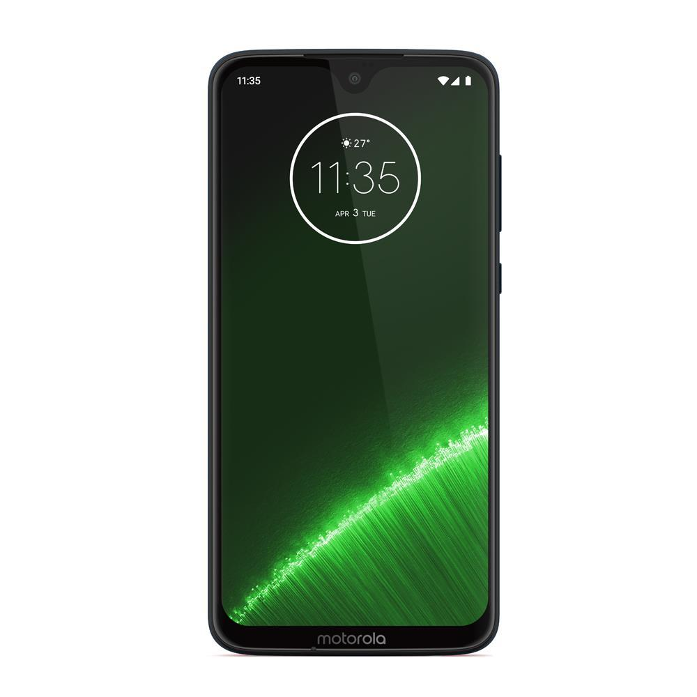 Motorola G7 Plus (64GB, Dual Sim, Deep Indigo, Special Import)-Smartphones (New)-Connected Devices