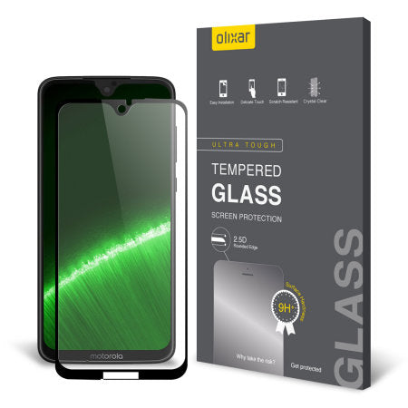 Olixar Tempered Glass Screen Protector For The Motorola Moto G7 Plus (Special, Import)-Accessories - Smartphones - Cases-Connected Devices