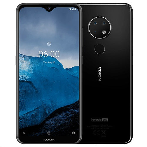 Nokia 6.2 (64GB, Dual Sim, Black, Special Import)-Smartphones (New)-Connected Devices