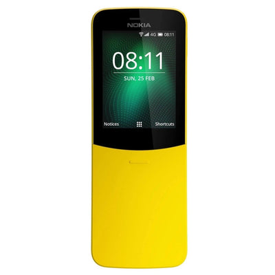 Nokia 8110 (Dual Sim, Yellow, 4G, Special Import)-Smartphones (New)-Connected Devices