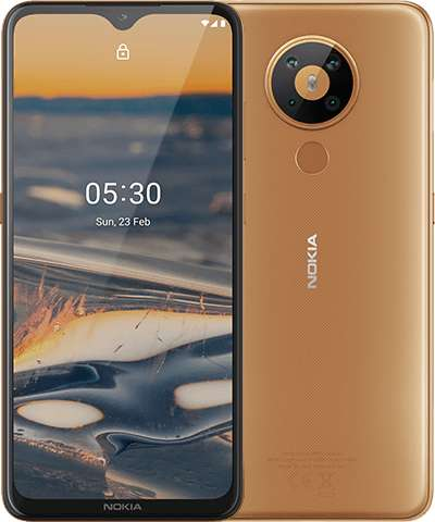 Nokia 5.3 (64GB, Dual Sim, Sand, Special Import)-Smartphones (New)-Connected Devices