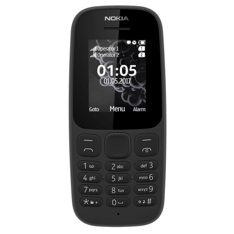 NOKIA 105 (Black, Single Sim, Local stock)-Smartphones (New)-Connected Devices