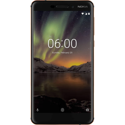 Nokia 6.1 (2018, 32GB, Single Sim, Black Copper, Local Stock)