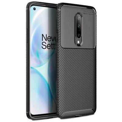 Olixar Carbon Fibre OnePlus 8 Case - Black, Special Import)-Accessories - Smartphones - Cases-Connected Devices