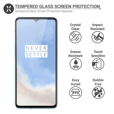 Olixar OnePlus 7T Tempered Glass Screen Protector (Special Import)-Accessories - Smartphones - Cases-Connected Devices
