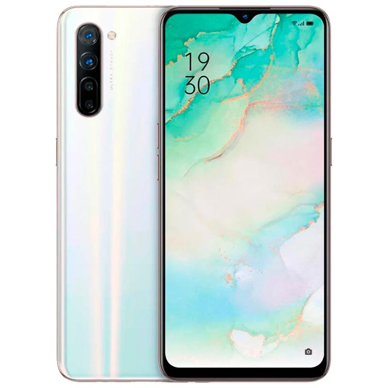Oppo Reno 3 (128GB, 8GB Ram, Dual Sim, White, Special Import)-Smartphones (New)-Connected Devices