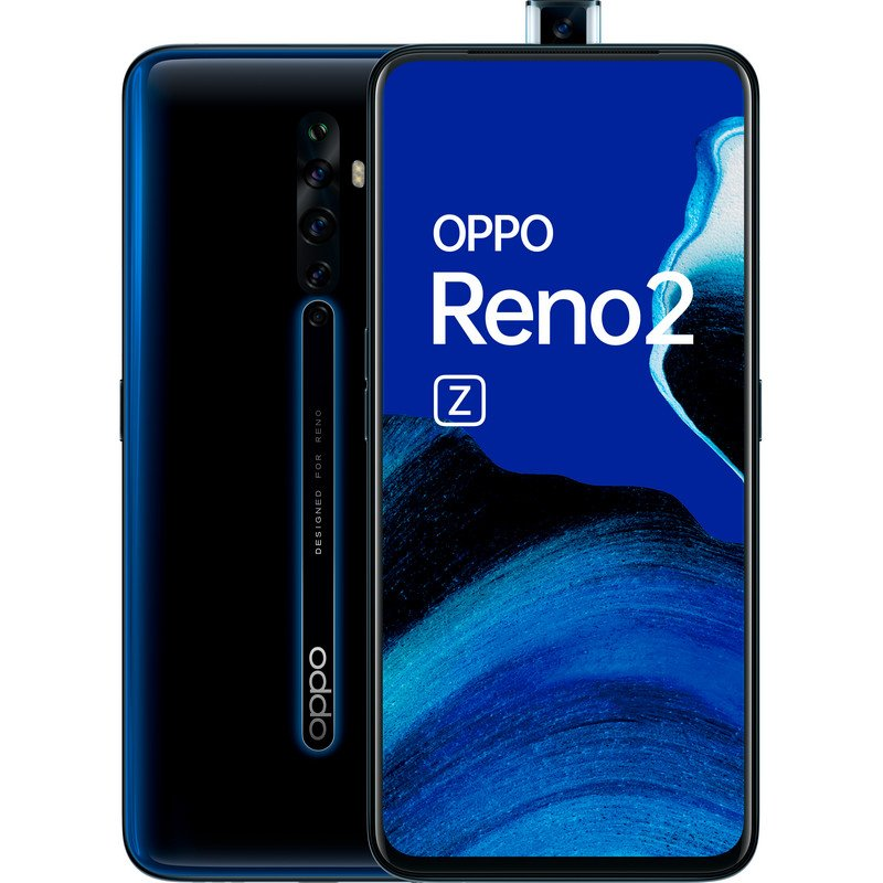 Oppo Reno2 Z (128GB, 8GB RAM, Dual Sim, Black, Special Import)-Smartphones (New)-Connected Devices