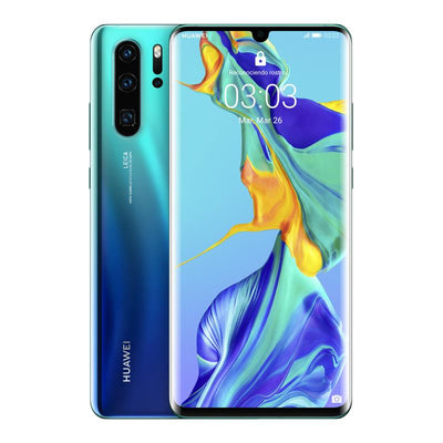 Huawei P30 Pro (128GB, 8GB RAM, Dual Sim, Aurora Blue, Special Import)-Smartphones (New)-Connected Devices