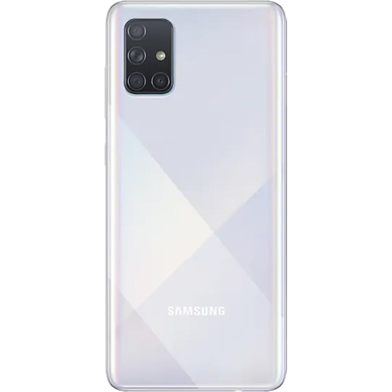 Samsung Galaxy A71 (128GB, 6GB RAM, Dual Sim, Prism Crush Silver, Special Import)-Smartphones (New)-Connected Devices