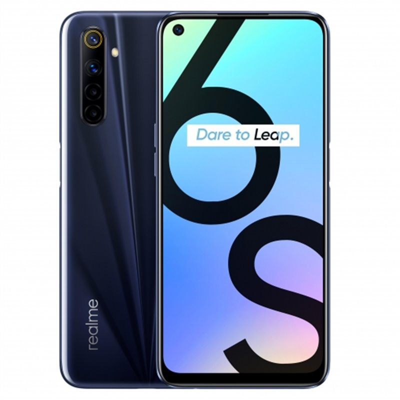 Realme 6S (64GB, Dual Sim, Black, Special Import)-Smartphones (New)-Connected Devices
