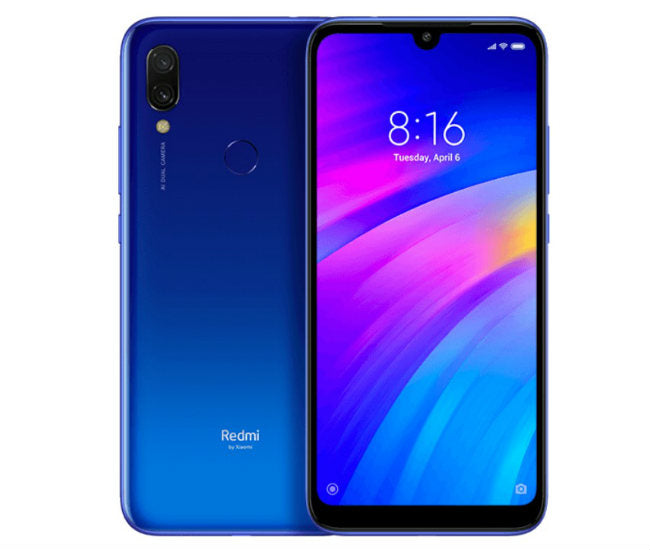 Xiaomi Redmi 7 (32GB, Dual Sim, Blue, Special Import)-Smartphones (New)-Connected Devices