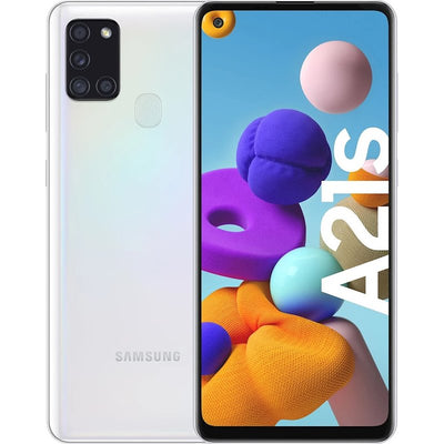 Samsung Galaxy A21s (64GB, Dual Sim, White, Special Import)-Smartphones (New)-Connected Devices