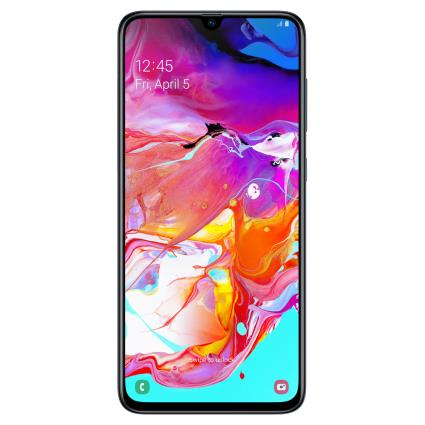 Samsung Galaxy A70 (128GB, Dual Sim, Black, Special Import)-Smartphones (New)-Connected Devices