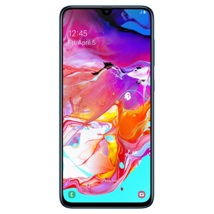 Samsung Galaxy A70 (128GB, Dual Sim, Blue, Special Import)-Smartphones (New)-Connected Devices