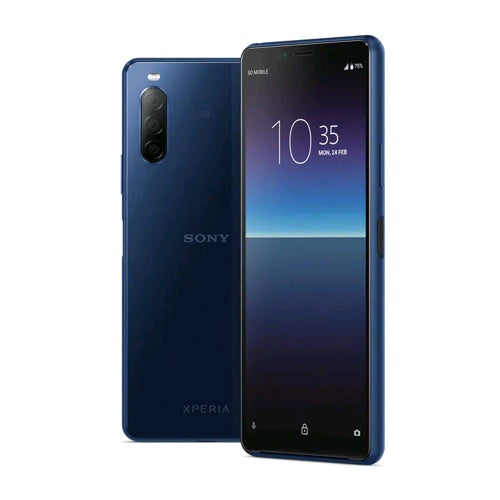 Sony Xperia 10 II (128GB, 4GB RAM, Dual Sim, Blue, Special Import)-Smartphones (New)-Connected Devices