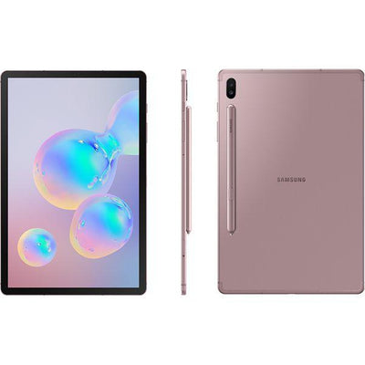 Samsung Galaxy Tab S6 10.5 (128GB, Rose Blush, LTE, Special Import)-Tablets (New)-Connected Devices