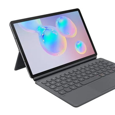 Samsung Galaxy Tab S6 QWERTY Keyboard Cover Case (Grey, Special Import)-Tablet Accessories-Connected Devices