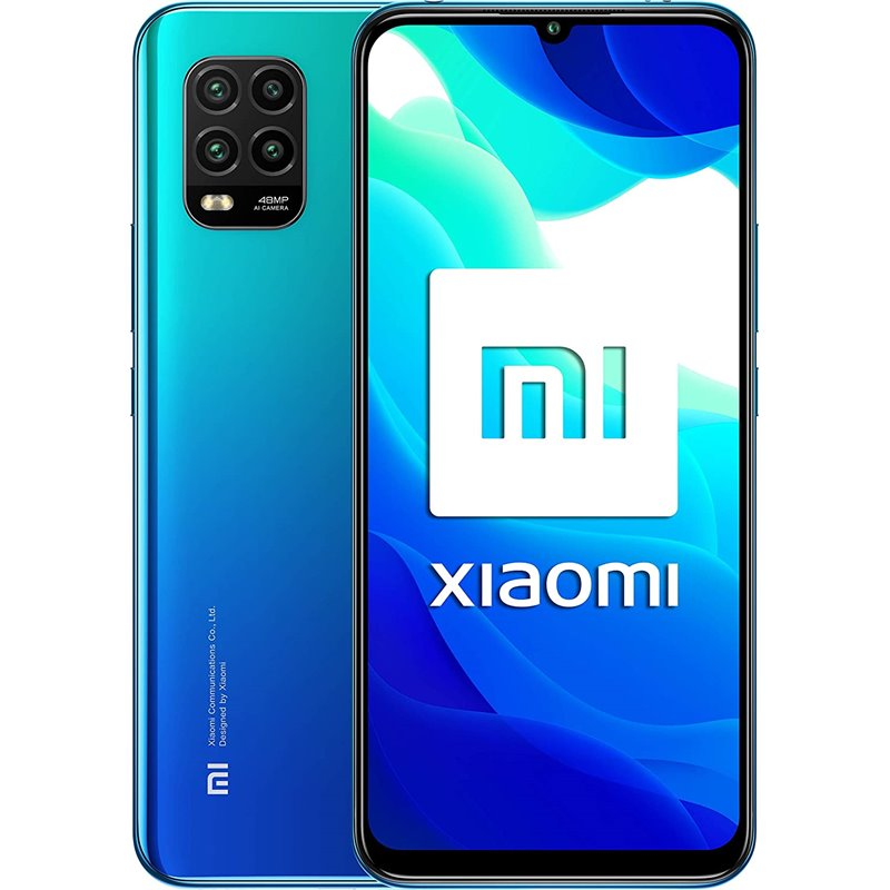 Xiaomi Mi 10 Lite 5G (128GB, 6GB RAM, Dual Sim, Blue, Special Import)-Smartphones (New)-Connected Devices