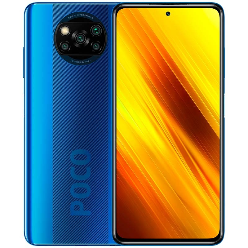 Xiaomi Pocophone X3 NFC (128GB, 6GB RAM, Dual Sim, Blue, Special Import)-Smartphones (New)-Connected Devices