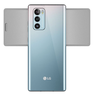 LG Wing 5G (128GB, Dual Sim, Sky, Special Import)-Smartphones (New)-Connected Devices