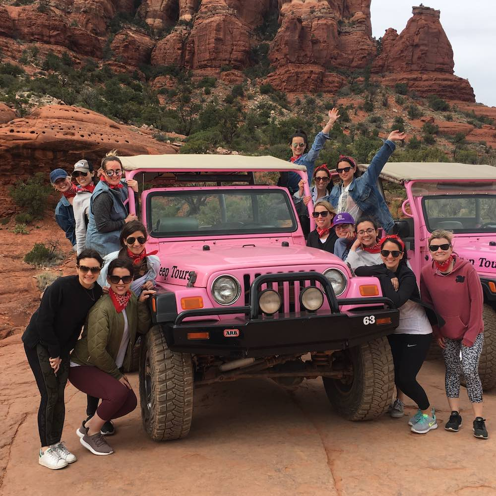 Sedona Bachelorette: Hiking, Yoga & Pink Jeeps in the Desert