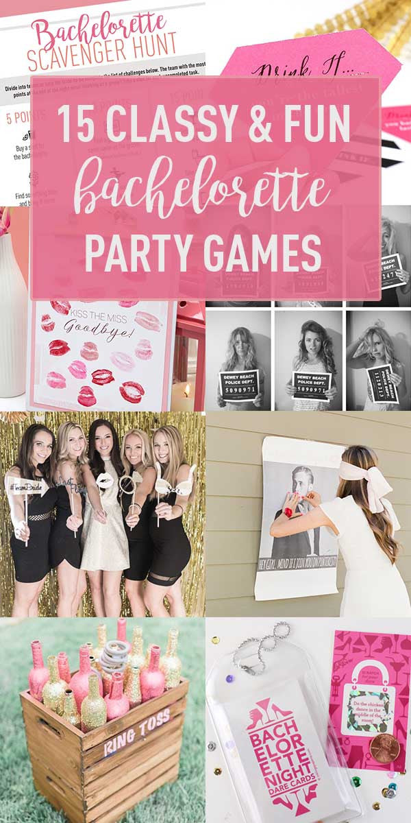 Bachelorette party games and prizes