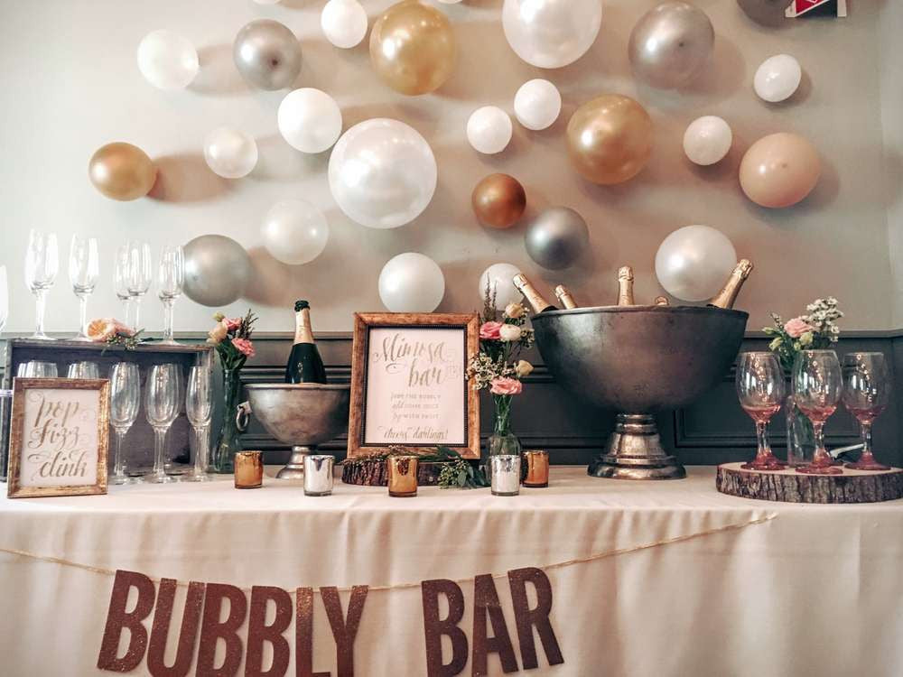 Bachelorette Party Ideas | Bubbly Bar : bachelorette party decor ideas - www.pureclipart.com