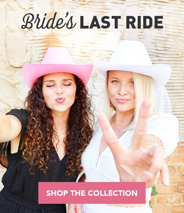 Bachelorette Party Cowboy Hats, Decorations, Accessories, Gifts
