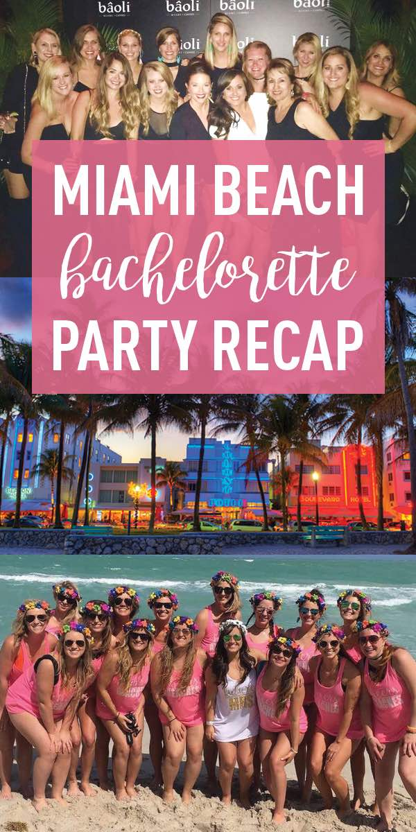 Miami Beach Bachelorette Party Ideas