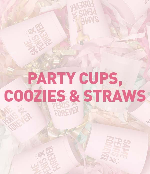 Bachelorette Party Cups, Can Coolers, Straws, Bar Accessories, Drinkware
