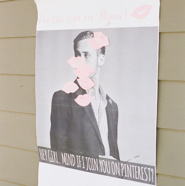 diy pin the kiss on ryan gosling game
