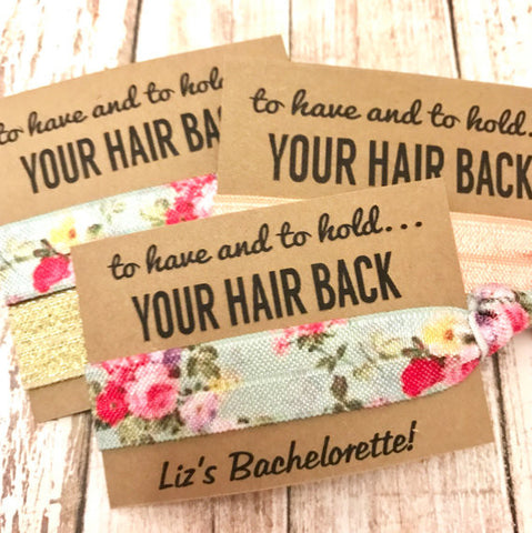 Bachelorette Party Favors - Hair Ties