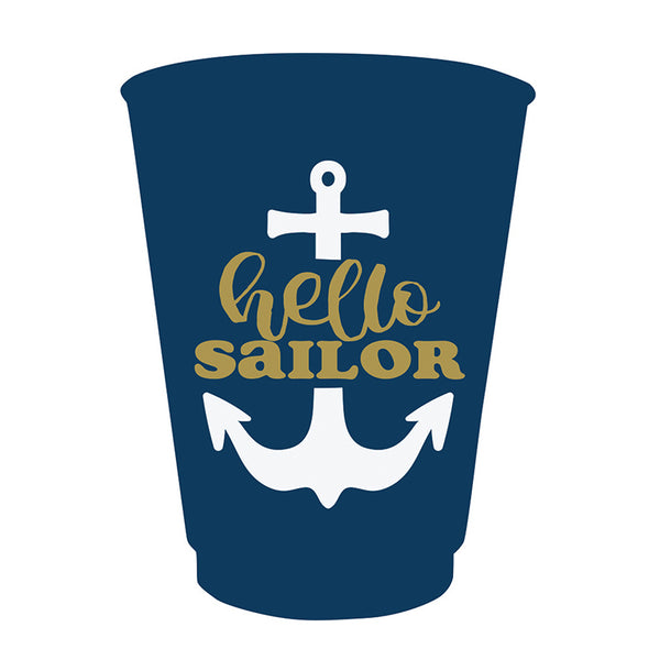 Hello Sailor Party Cups (8 count) - Stag & Hen