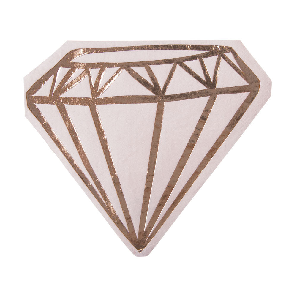 Rose Gold Ring Bling Napkins - Stag & Hen