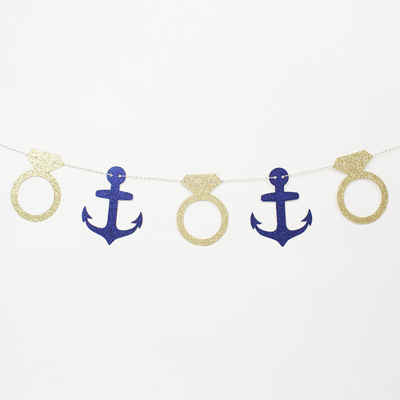 Mini Nautical Party Garland - Stag & Hen