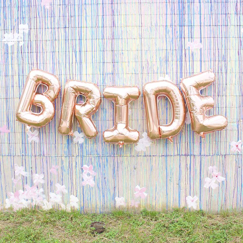 Bachelorette Party Supplies - Jumbo Rose Gold BRIDE Balloon Banner | Stag & Hen