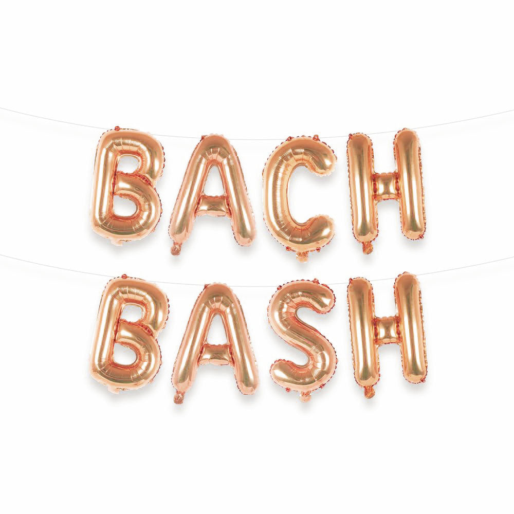 Bach Bash Balloon Letter Kit - Rose Gold