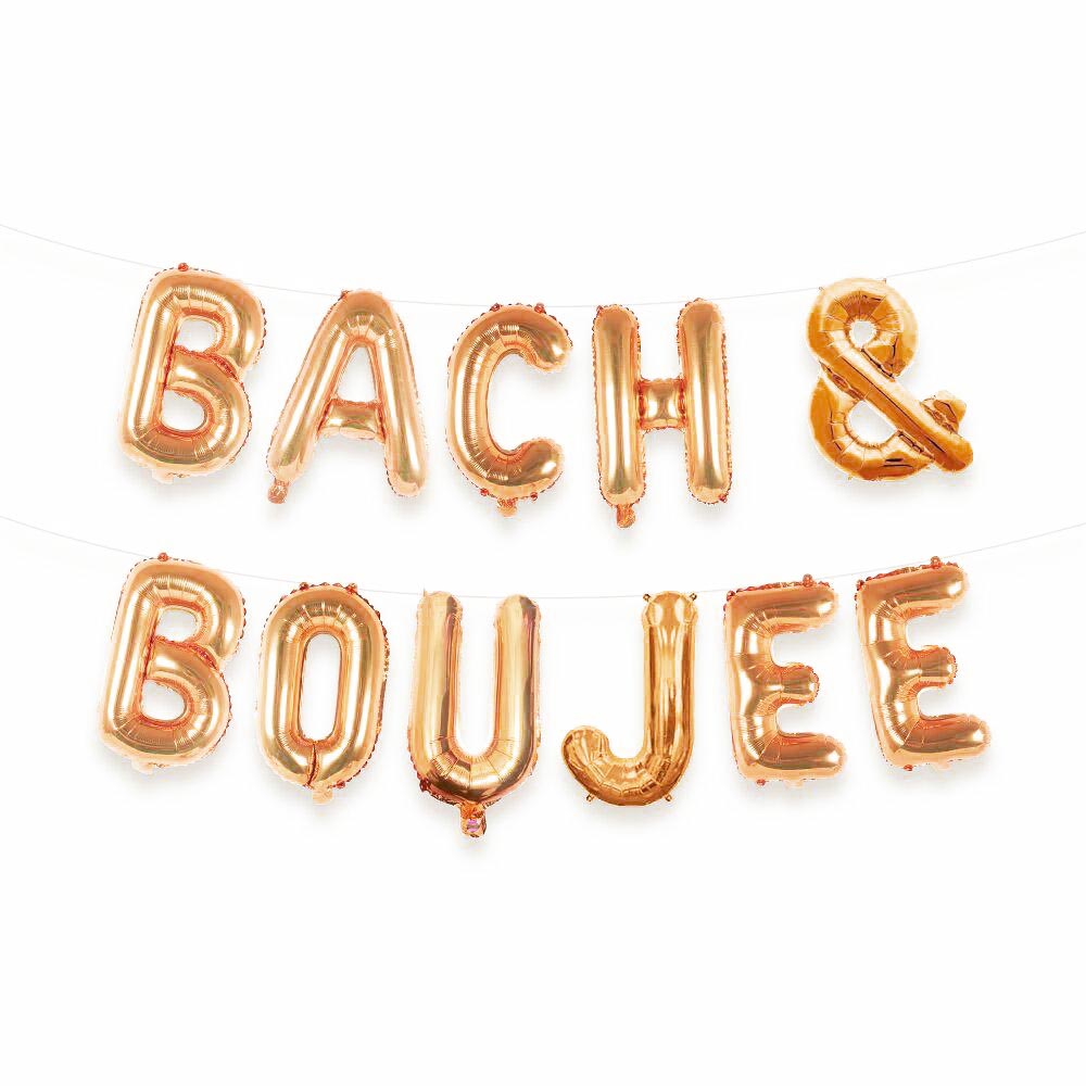 Bach & Boujee Balloon Letter Kit (Rose Gold)