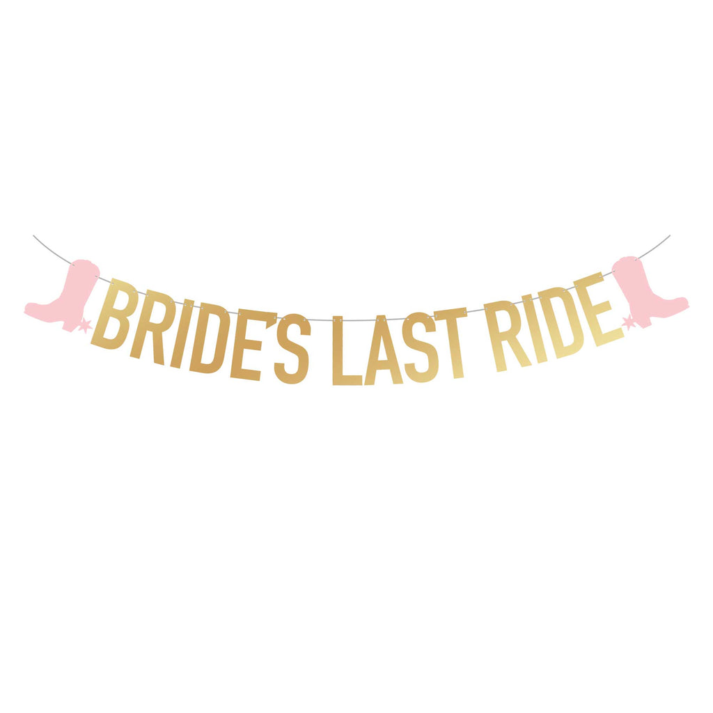 SUPER TALL Bride's Last Ride Banner (2x Taller Than Most Banners)