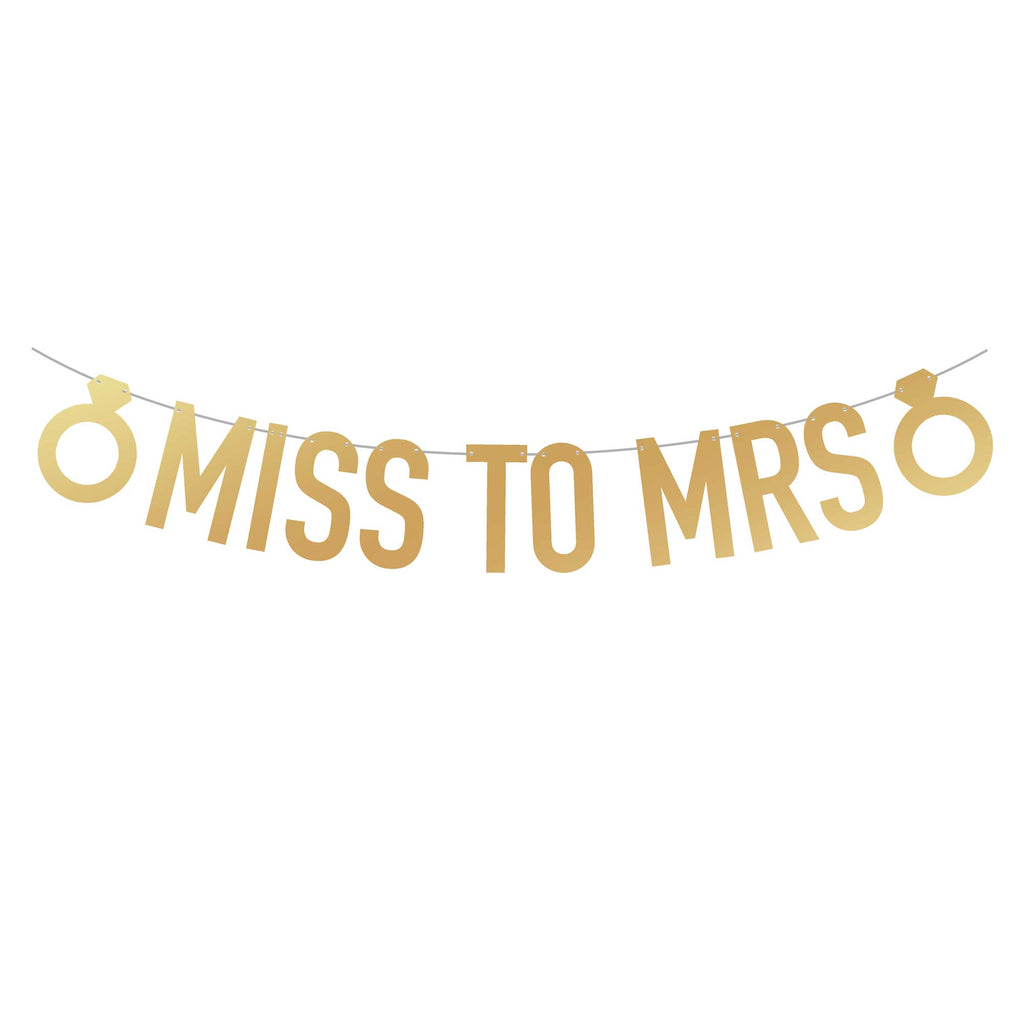 Miss To Mrs Bachelorette Party Banner | Stag & Hen