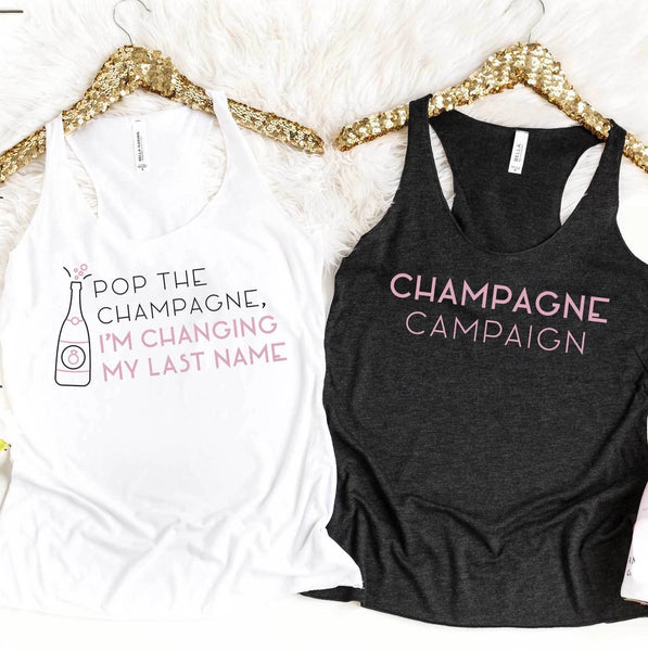 Champagne Campaign Bachelorette Party Shirts | Stag & Hen
