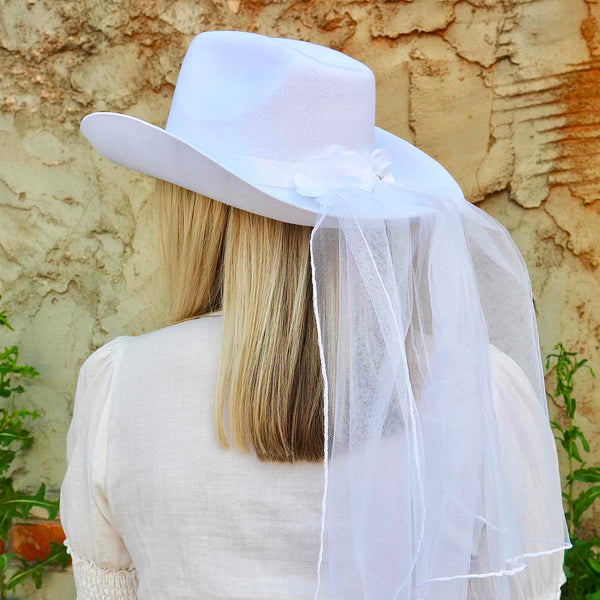 Bachelorette Party Cowboy Hat Veil