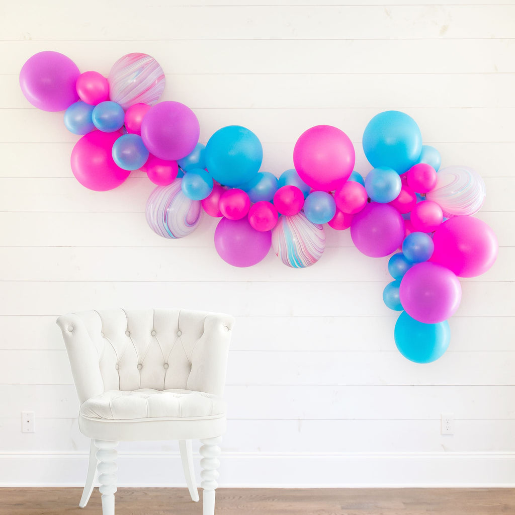 Neon 1990s DIY Bachelorette Party Balloon Garland | We Like To Party Bachelorette Party Decorations, Favors, Accessories, Supplies