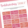 "Bachelorette Party ""Drink If"" Game - Free Digital Download - Stag & Hen"