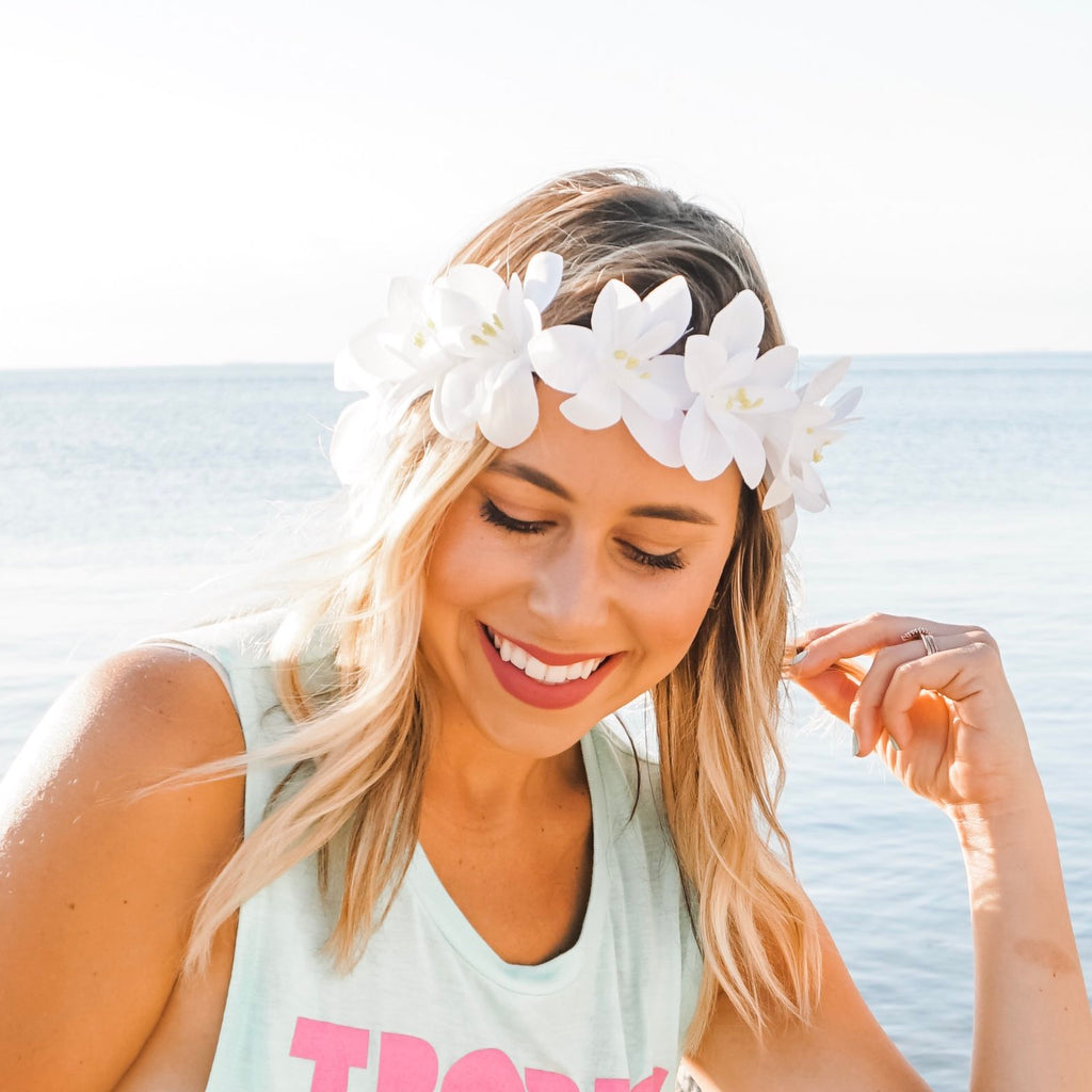 LED Light Up Bachelorette Party Flower Headbands | Bachelorette Flower Crowns
