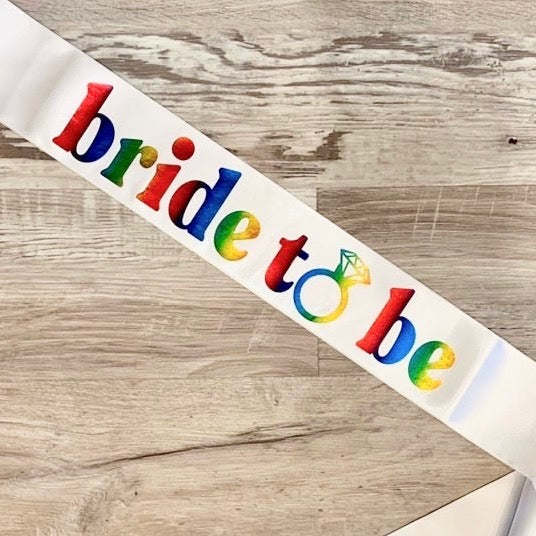 LGBTQ Bachelorette Party Sash