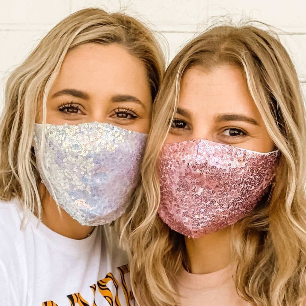 Bachelorette Party Sequin Face Masks for COVID-19 and Coronavirus