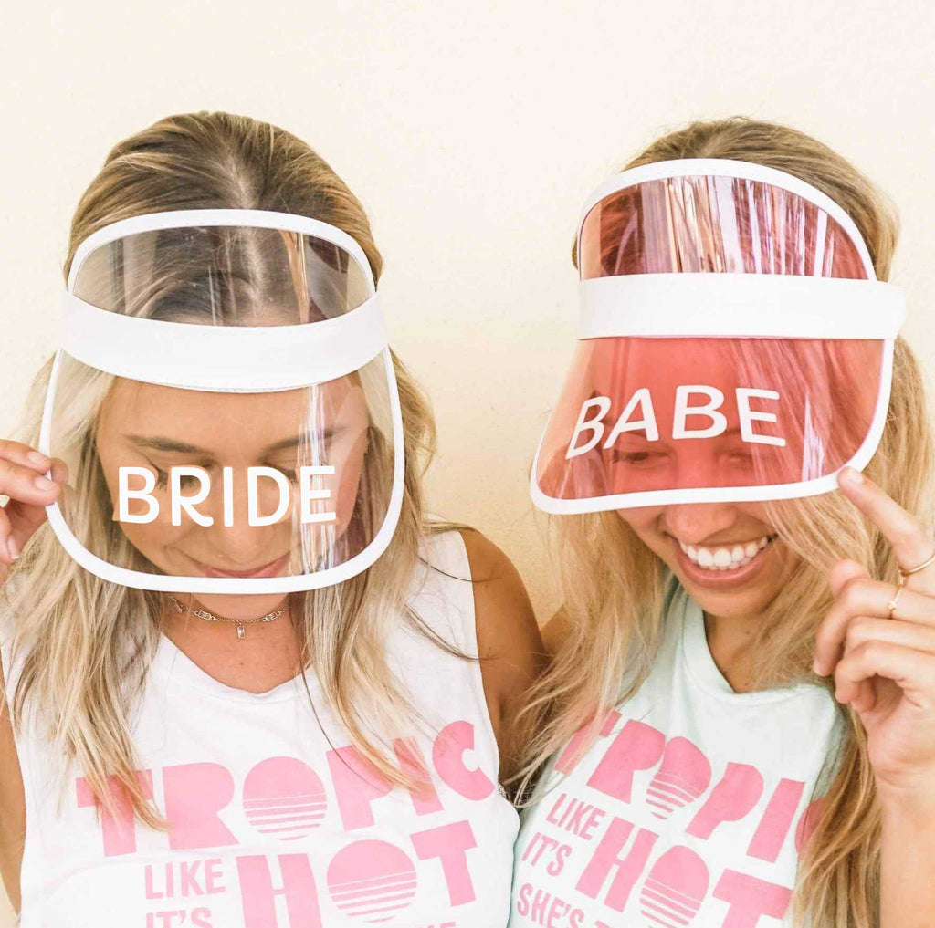 Best Bachelorette Party Gifts of 2020 | Bride's Babes Retro Sun Visors